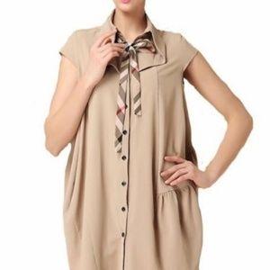 LAST 1! Boutique Poet Blouse Tunic Dress XL Tan